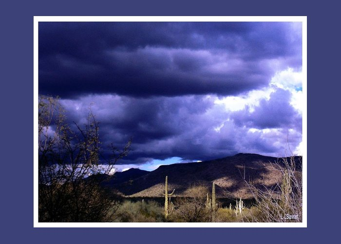 Arizona Greeting Card featuring the photograph Storm Clouds In The Desert by L L Stewart