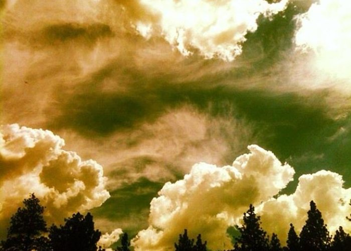 Storm Greeting Card featuring the photograph Storm Clouds by Natalya Karavay