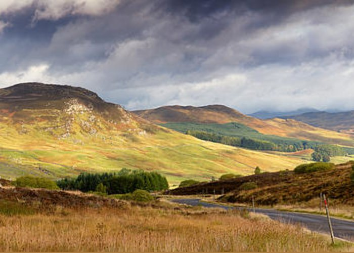 Road Greeting Card featuring the photograph Storm Clouds Over The Glen by Jane Rix