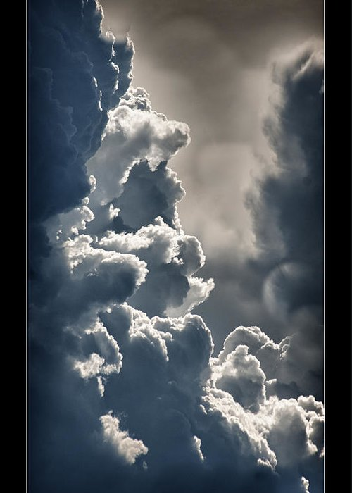 Storm Clouds Greeting Card featuring the photograph Storm Clouds by Vincent Dwyer