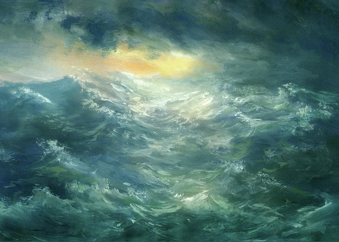 Scenics Greeting Card featuring the digital art Storm Is Coming by Pobytov