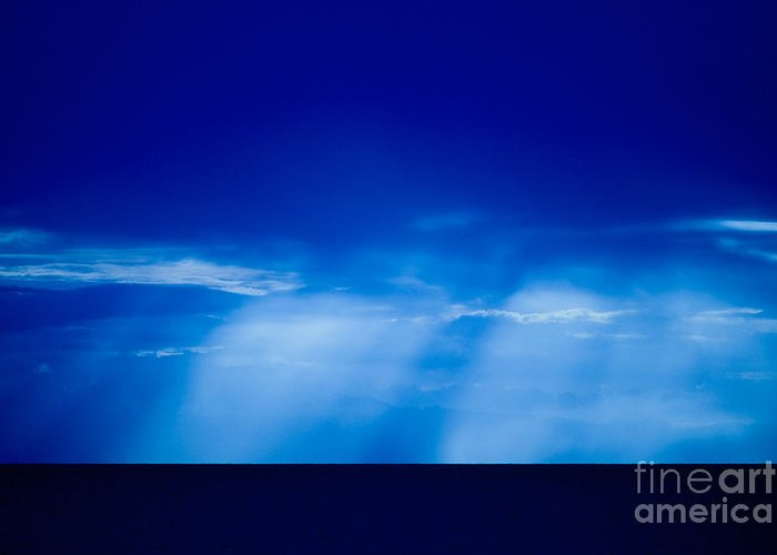 Storm On Ocean Gift Cards Greeting Card featuring the photograph Storm Over Camotes by Hank Taylor