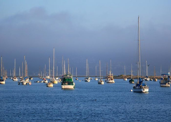 Storm Greeting Card featuring the photograph Storm Over Morro Bay by Veronica Vandenburg