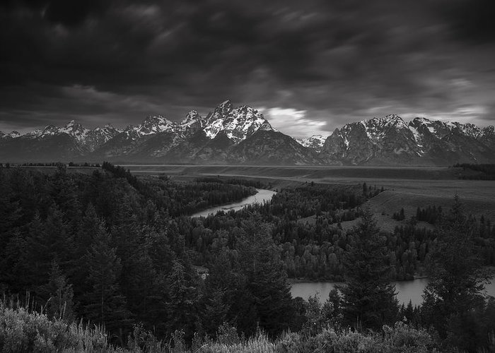Teton Greeting Card featuring the photograph Storm Over The Tetons by Andrew Soundarajan