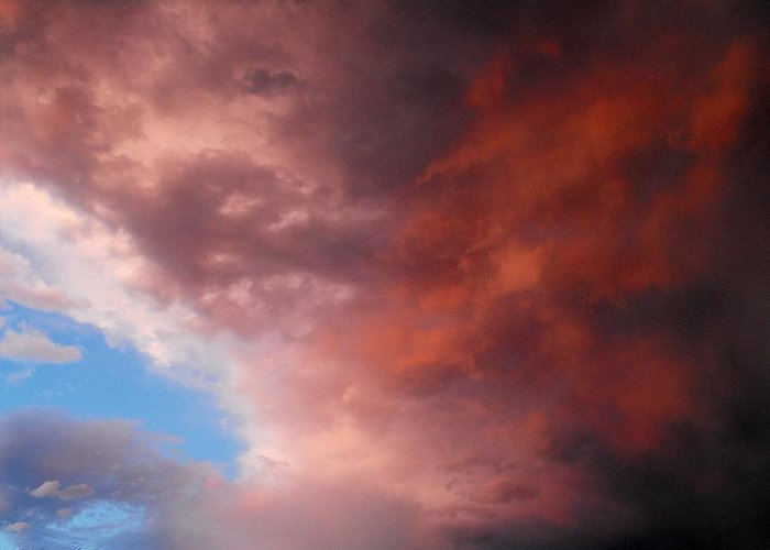 Clouds Greeting Card featuring the photograph Storm by Paulina Roybal