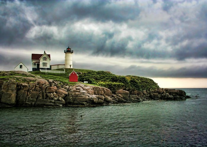 Nubble Greeting Card featuring the photograph Storm Rolling In by Heather Applegate
