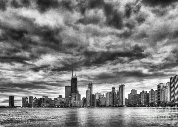 Chicago Greeting Card featuring the photograph Storms Over Chicago by Margie Hurwich
