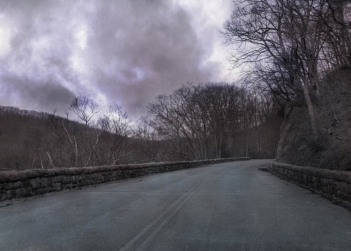 Blue Greeting Card featuring the photograph Stormy Blue Ridge Parkway by Betsy Knapp