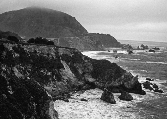 California Greeting Card featuring the photograph Stormy Hwy 1 Coast by Kathy Yates