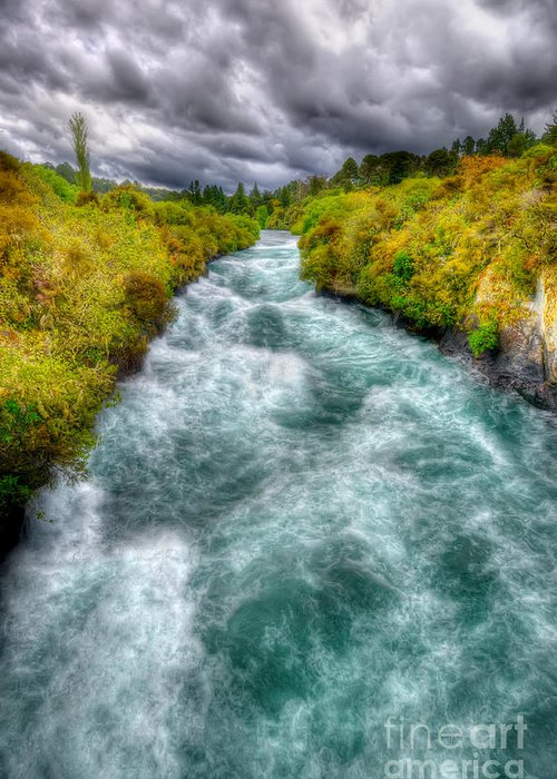 Wild Greeting Card featuring the photograph Stormy River by Colin Woods