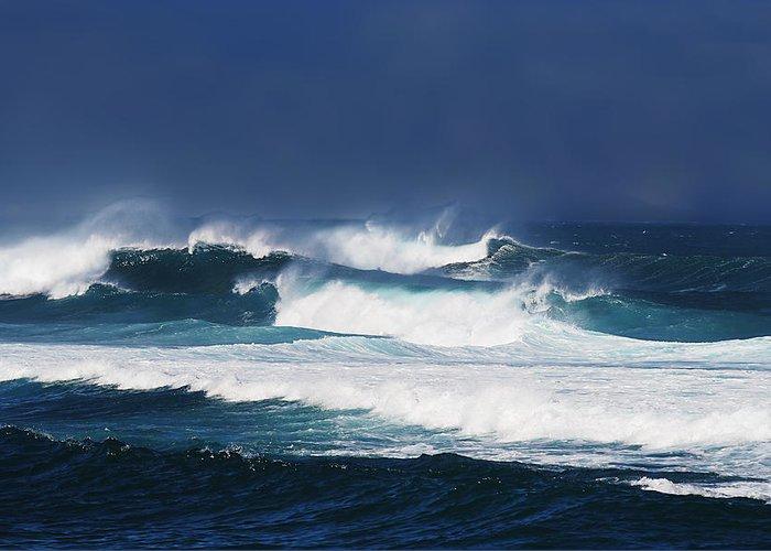 Ocean Greeting Card featuring the photograph Stormy Seas by John Orsbun