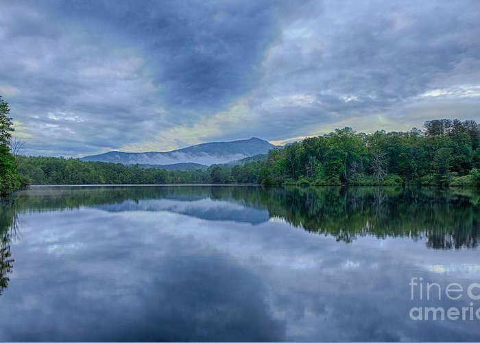 Blue Ridge Parkway Greeting Card featuring the photograph Stormy Sunrise Over Price Lake - Blue Ridge Parkway I by Dan Carmichael