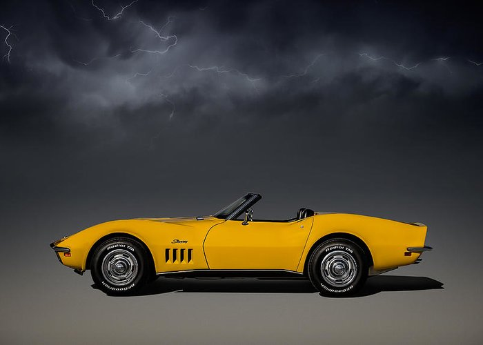 Corvette Greeting Card featuring the digital art Stormy Weather by Douglas Pittman