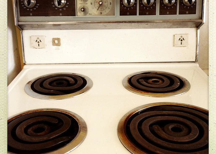 Appliance Greeting Card featuring the photograph Stove Top by Les Cunliffe