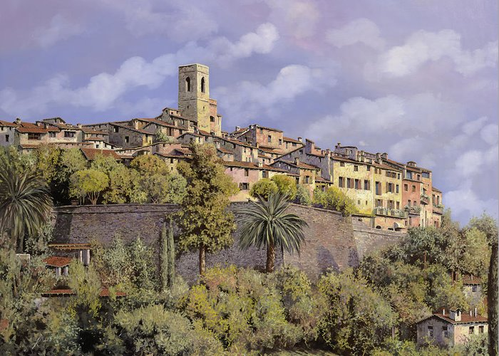 St Paul De Vence Greeting Card featuring the painting St.paul De Vence by Guido Borelli