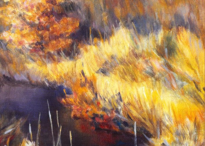Stream Greeting Card featuring the painting Stream by Kendall Kessler