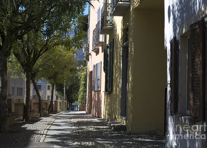 Street Greeting Card featuring the photograph Street Alley by Mats Silvan