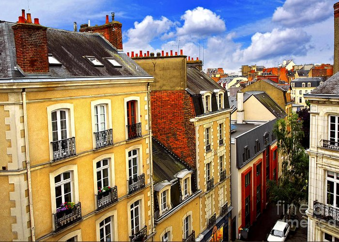 View Greeting Card featuring the photograph Street In Rennes by Elena Elisseeva
