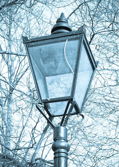 Antique Lamp Greeting Card featuring the photograph Street Lamp by Tom Gowanlock