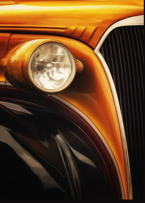 Photo Greeting Card featuring the painting Street Rod 3 by Jack Zulli