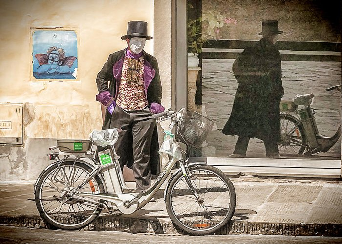 Bicycle Greeting Card featuring the photograph Street Vendor by Maria Coulson
