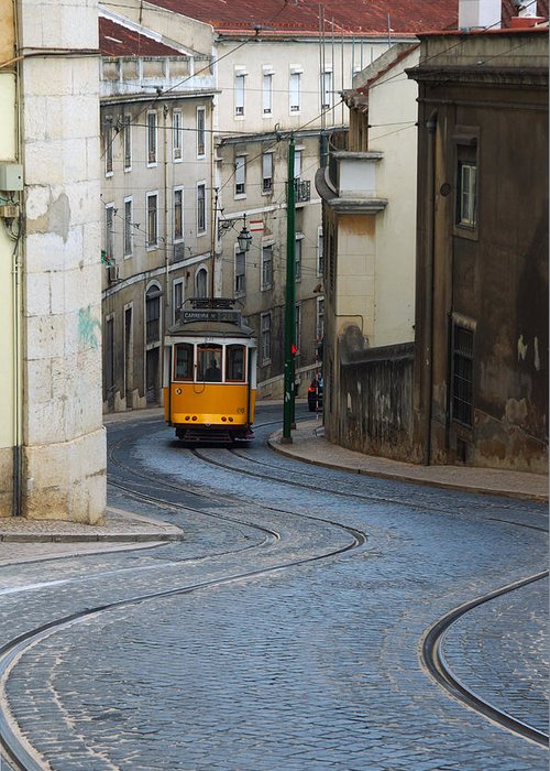 Greeting Card featuring the photograph Streetcar by Luis Esteves