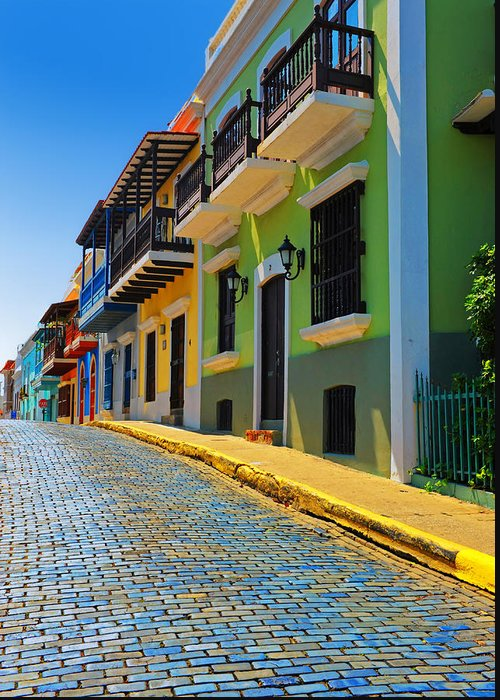 Old San Juan Greeting Card featuring the photograph Streets Of Old San Juan by Stephen Anderson