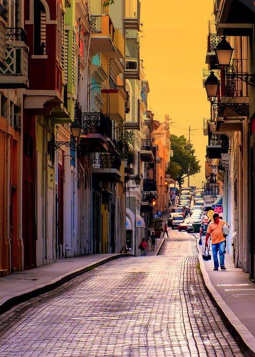 San Juan Greeting Card featuring the photograph Streets Of San Juan by Karen Wiles