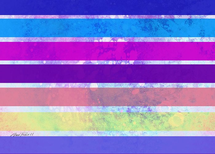 Abstract Greeting Card featuring the painting Stripes Abstract Art by Ann Powell
