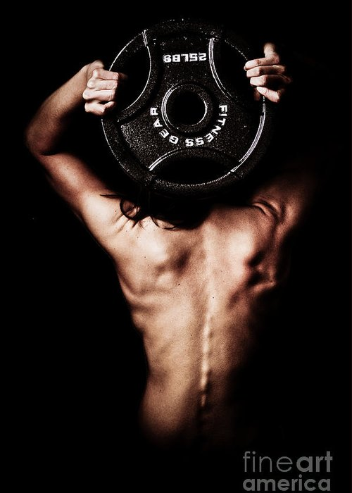Lifting Greeting Card featuring the photograph Strong Back And Arms by Jt PhotoDesign