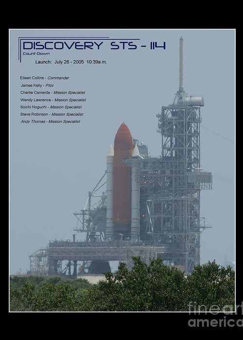 Space Shuttle On Launch Pad Greeting Card featuring the photograph Sts-114 Discovery by Jeffrey Wills