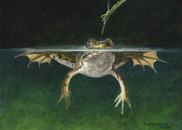 Bullfrogs Greeting Cards