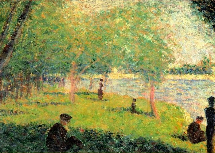 Art Greeting Card featuring the painting Study On La Grande Jatte by Georges Seurat