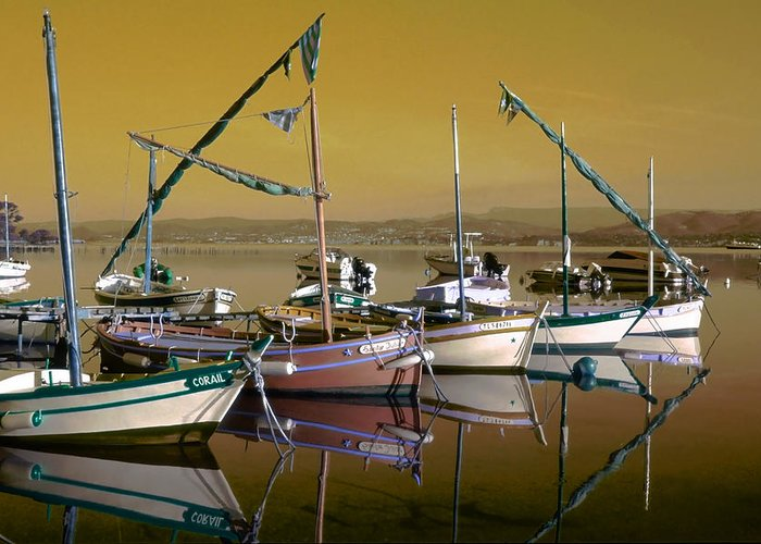 Boats Greeting Card featuring the photograph Stunning Fishing Port by Patrick Kessler