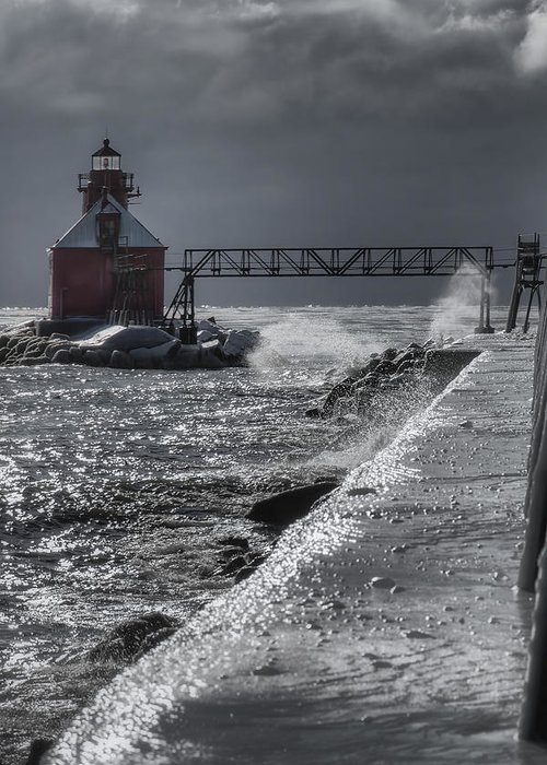 Bay Greeting Card featuring the photograph Sturgeon Bay After The Storm by Joan Carroll