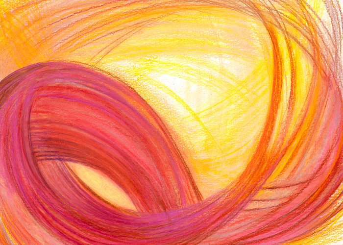 Abstract Greeting Card featuring the drawing Sublime Design by Kelly K H B