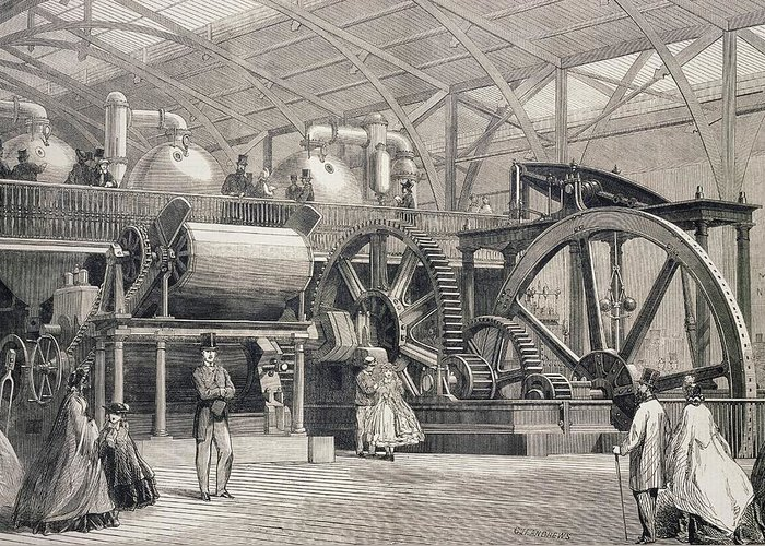 Great London Exposition Greeting Card featuring the photograph Sugar Mill Machinery by George Bernard/science Photo Library