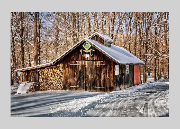 Sugar Shack Greeting Card featuring the photograph Sugar Shack - Southbury Connecticut by Expressive Landscapes Fine Art Photography by Thom