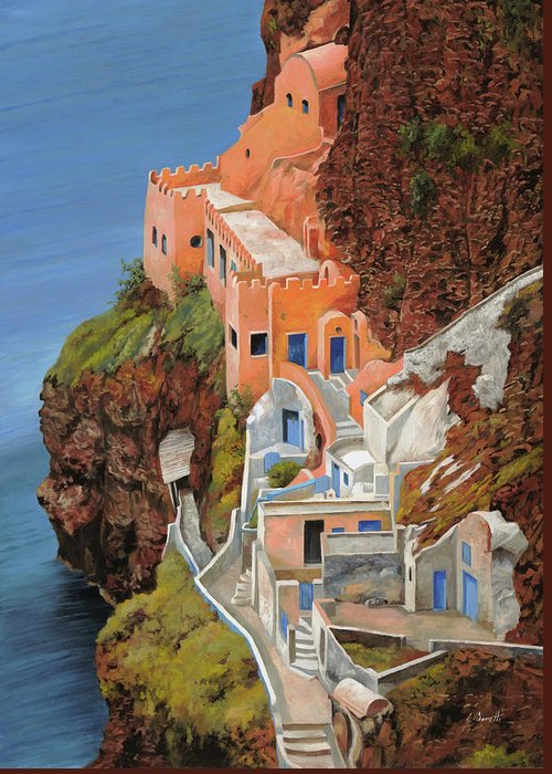 Greece Greeting Card featuring the painting sul mare Greco by Guido Borelli