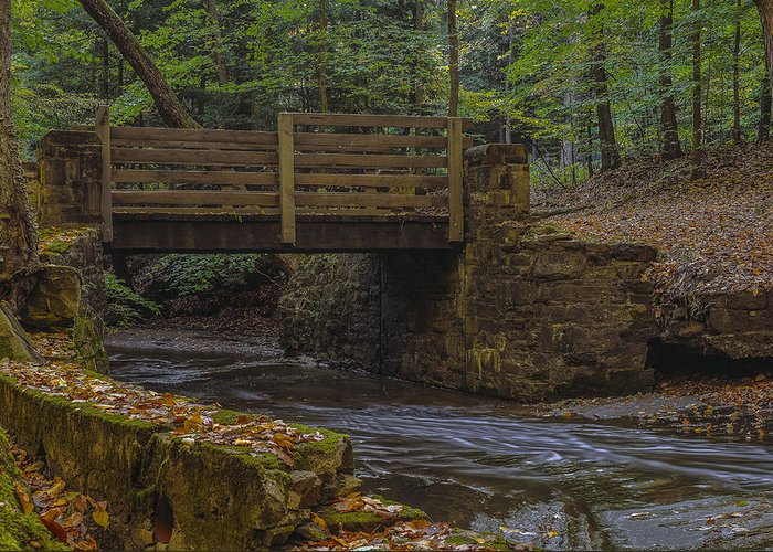 Chagrin Falls Greeting Card featuring the photograph Sulphur Springs Bridge by Torrey McNeal