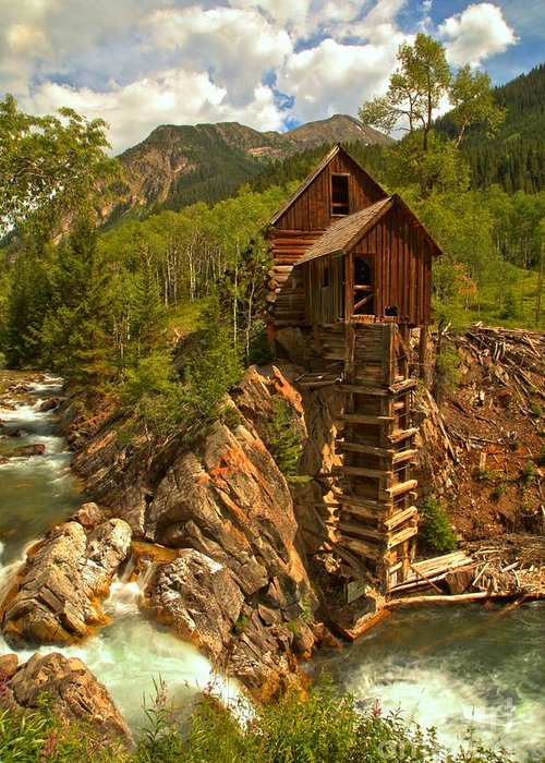 Mill On A Cliff Greeting Cards