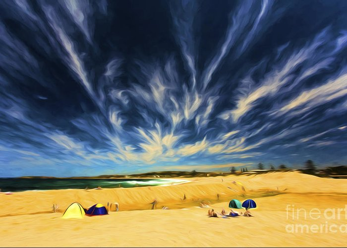 Beach Greeting Card featuring the photograph Summer Day At Narrabeen by Sheila Smart Fine Art Photography