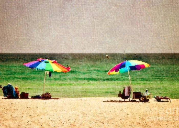 Beach Greeting Card featuring the photograph Summer Days At The Beach by Scott Pellegrin