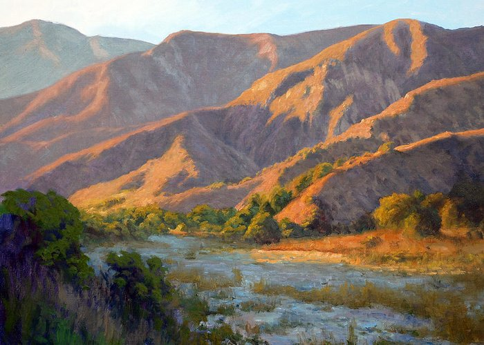 San Gabriel Mountains Paintings Greeting Cards