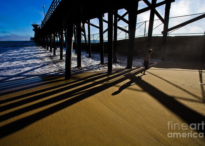 America Greeting Card featuring the photograph Summer Evening In Seal Beach by Sviatlana Kandybovich