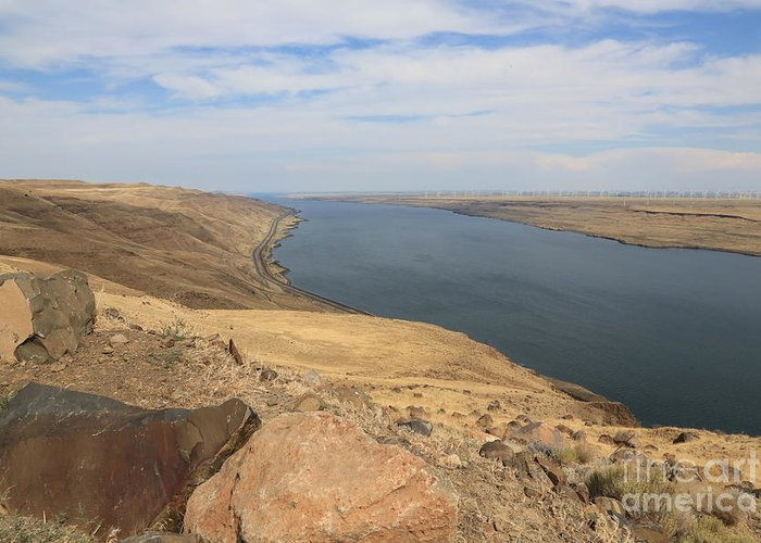 Columbia River Greeting Card featuring the photograph Summer On The Columbia River by Carol Groenen