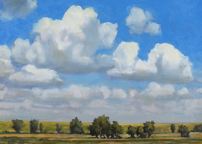 Landscape Greeting Card featuring the painting Summer Pasture by Bruce Morrison