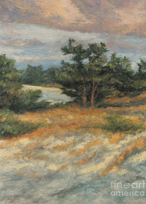 Summer Afternoon Greeting Card featuring the painting Summer Shadows - Provincetown by Gregory Arnett