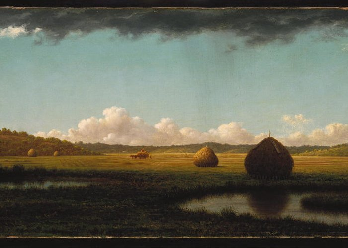 Martin Johnson Heade Greeting Card featuring the painting Summer Showers by Martin Johnson Heade