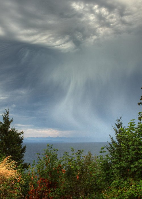 Landscape Greeting Card featuring the photograph Summer Squall by Randy Hall